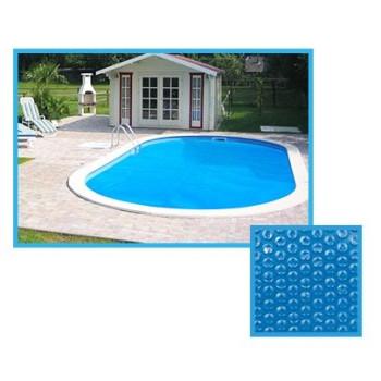Bâche à bulles piscine Linxor ovale 3,10 x 3,66 mètres - 180 microns