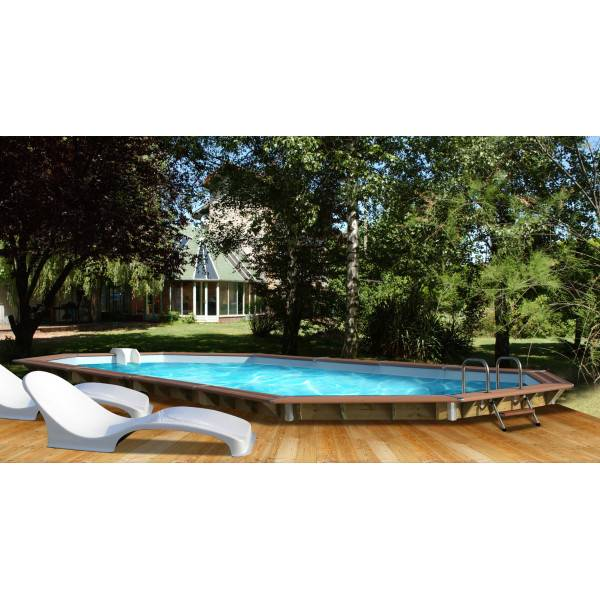 Piscine bois water 39 clip randers 890 x 420 h 129 for Piscine hors sol water clip
