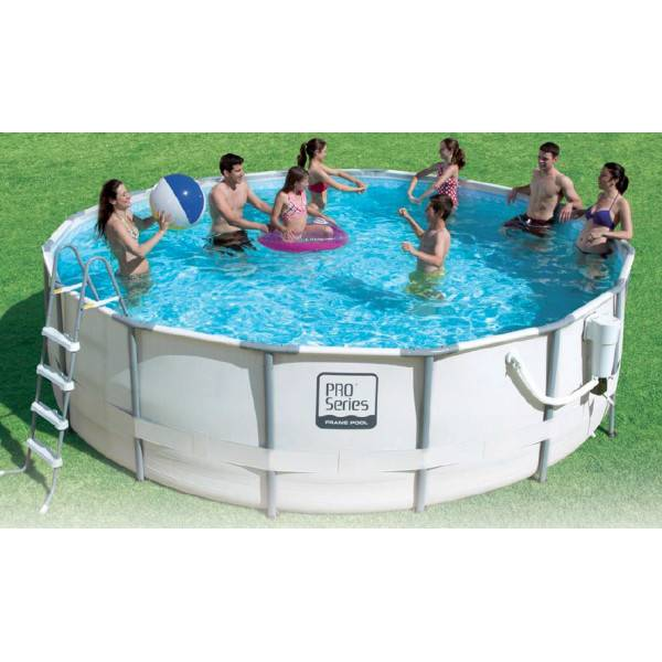 Piscine tubulaire pro s rie hors sol ronde diam tre 5 49 for Piscine hors sol 3 metre diametre
