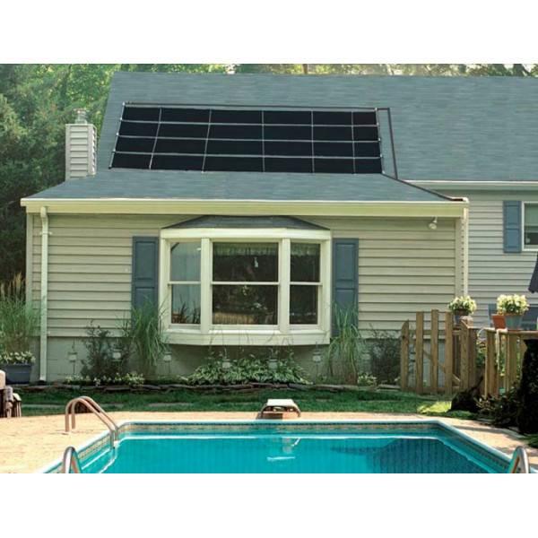 Kit chauffage solaire piscines panneaux 61 cm sur 6 10 m for Installation chauffage solaire piscine