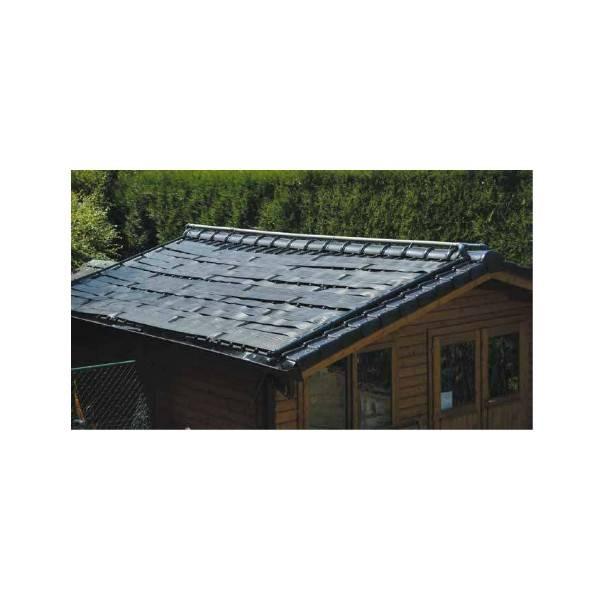 Kit chauffage solaire piscines panneaux 33 cm sur 1 m for Chauffage piscine panneaux solaires