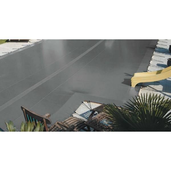 Bâche couverture hivernage INTERSUP TOP pitons inox Piscine 5,30 x 5 mètres Coloris Gris/gris