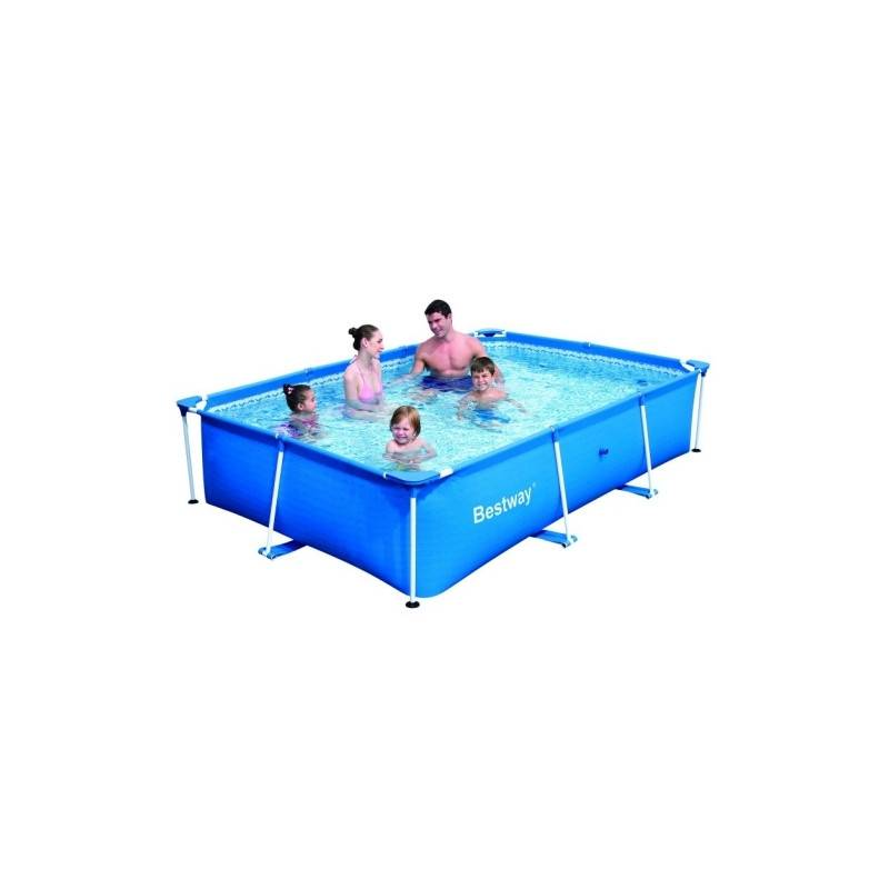 Piscine hors sol tubulaire deluxe splash frame pools rectangulaire 259 x 170 h 61 for Piscine tubulaire rectangulaire pas chere