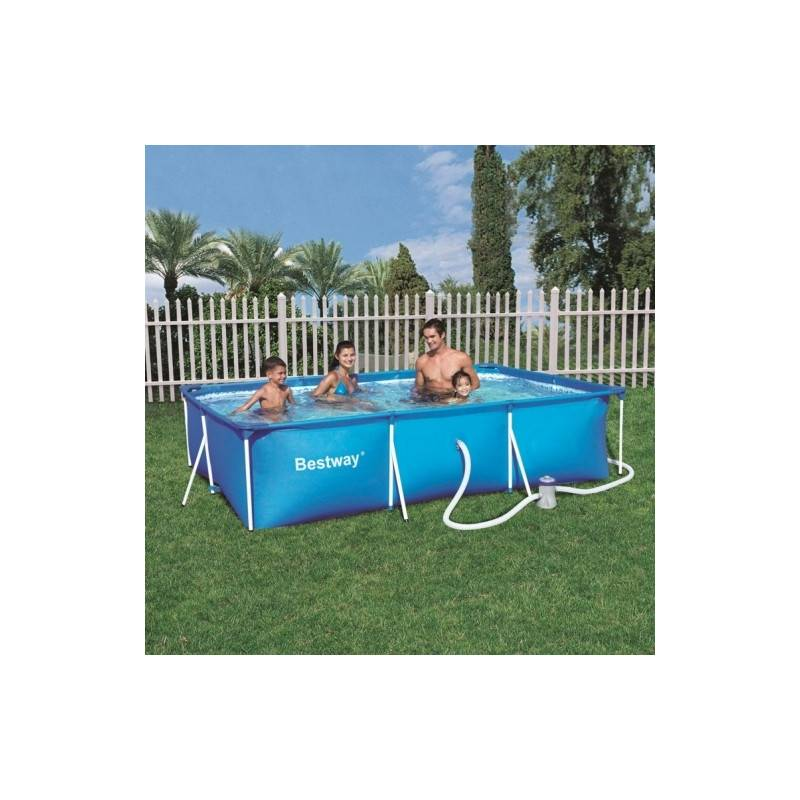 Piscine hors sol tubulaire deluxe splash frame pools rectangulaire 300 x 201 h 66 for Piscine tubulaire rectangulaire pas chere