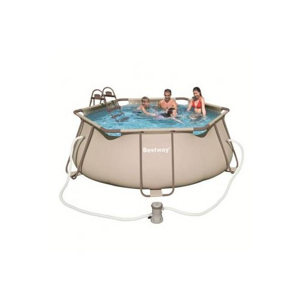 Kit piscine hors sol hexagonale steel pro frame pools pas cher for Piscine hors sol hexagonale