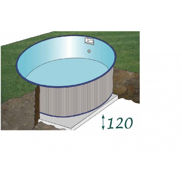 Kit piscine acier enterr e star pool ronde diam 550 h 150 for Piscine en kit enterree