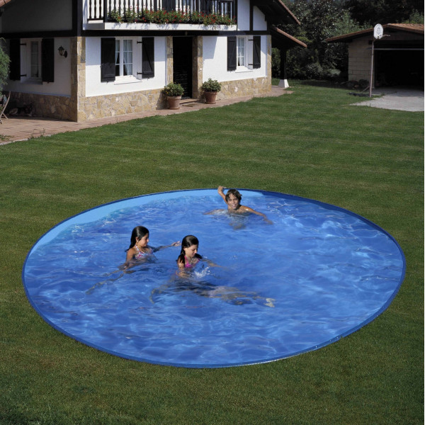Kit piscine acier enterr e ronde star pool pas cher id for Piscine semi enterree acier