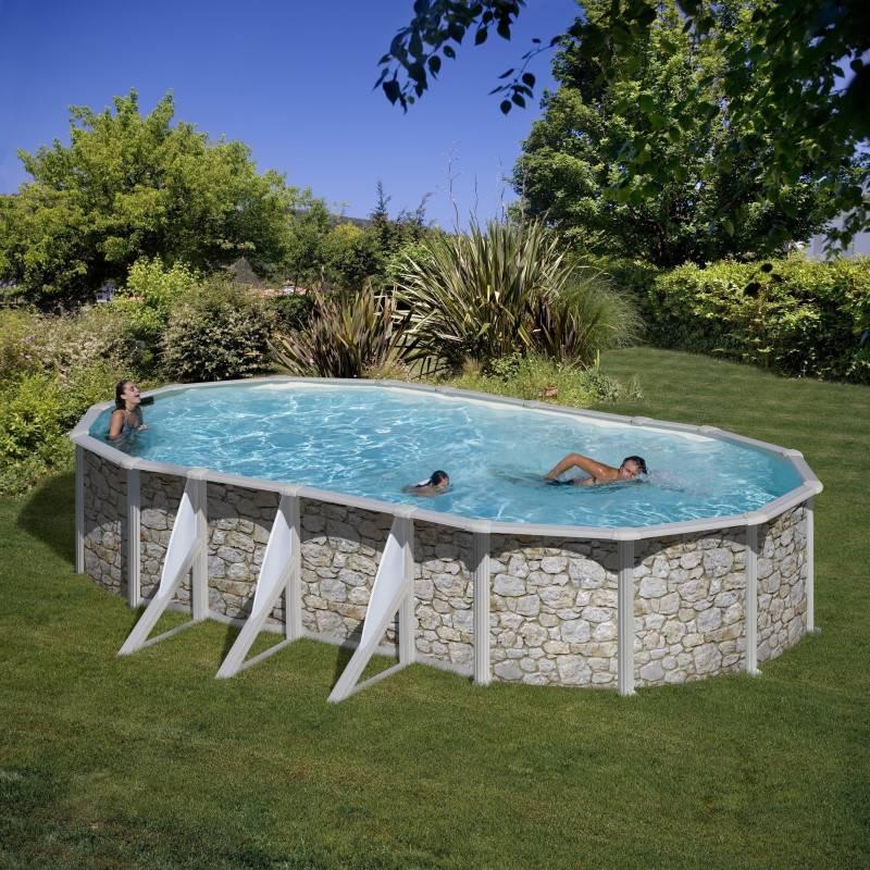 Piscine hors sol dream pool ovale skyathos 730 x 375 h 132 for Piscine ovale hors sol pas cher