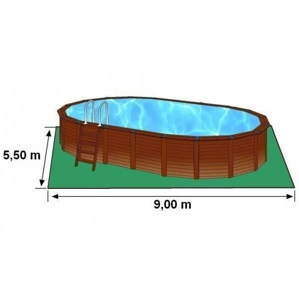 Piscine hors sol ovale hawa d ext 820 x 515 h 132 pas cher for Piscine ovale pas cher