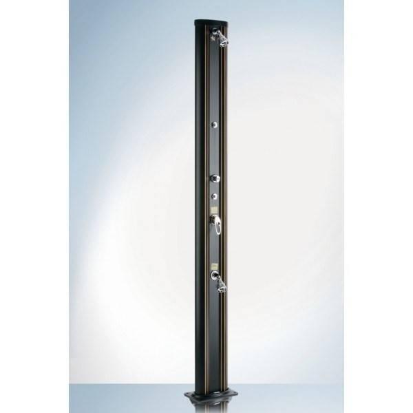 Douche Solaire Aluminium noire 32L pommeau 3 positions