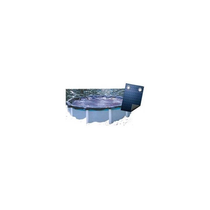 Bâche Couverture Hivernage Super Guard 80 g/m2 Diam. 6,40 m avec Coversaver