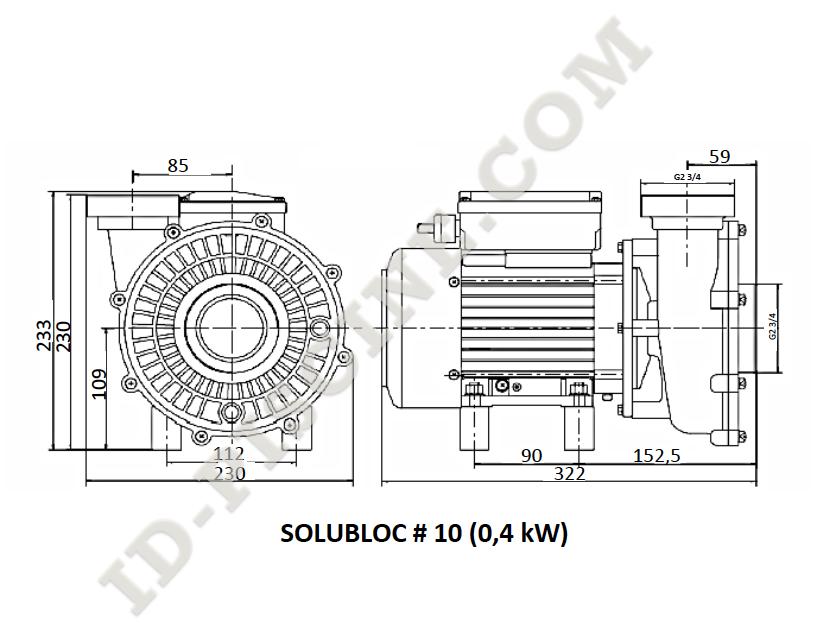pompe filtration solubloc 10 compatible desjoyaux p18 600902. Black Bedroom Furniture Sets. Home Design Ideas