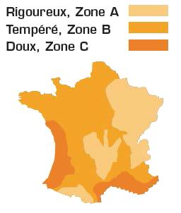 Zones géographiques pompes à chaleur Pure Pac