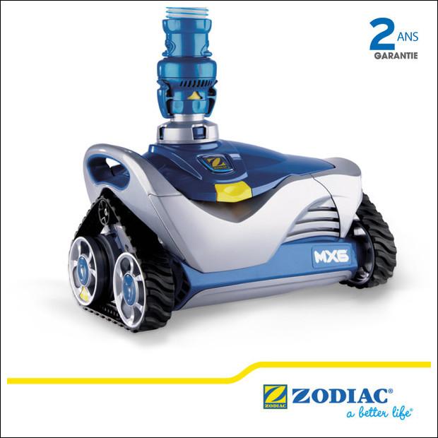 Zodiac mx6 robot piscine robot hydraulique id piscine for Piscine hors sol zodiac occasion
