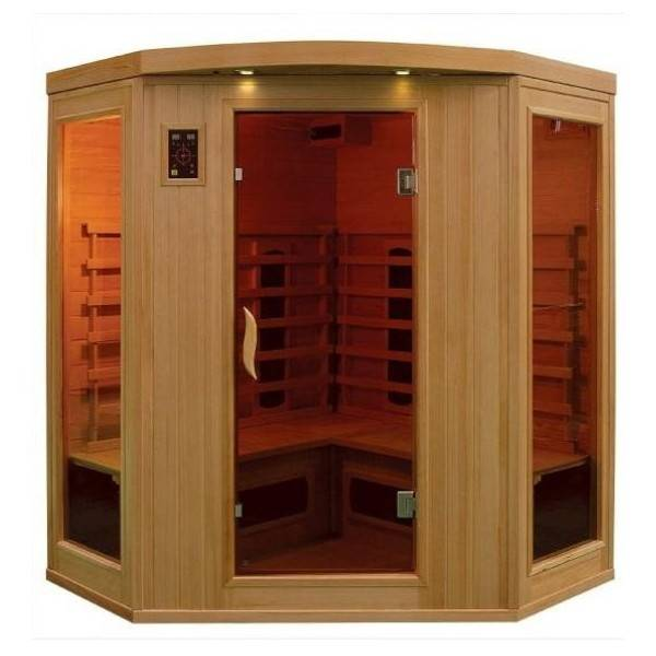 Sauna Infrarouge Bois Hemlock Astral - 3/4 places