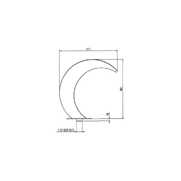 Cascade Inox 500 mm Astral