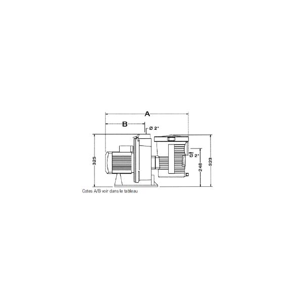 Pompe Filtration piscine Pentair Ultra Flow Plus 1.5 cv Mono 22 m3/h