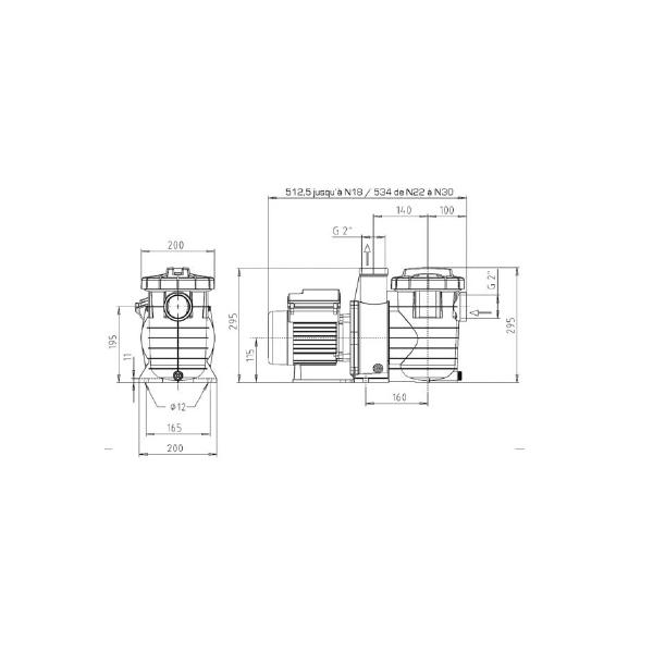 Pompe Filtration piscine KSB Filtra N 12 m3/h Mono