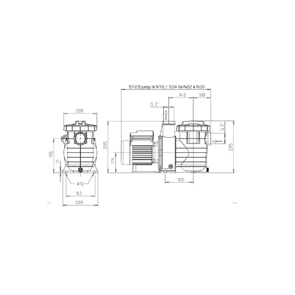 Pompe Filtration piscine KSB Filtra N 14 m3/h Mono