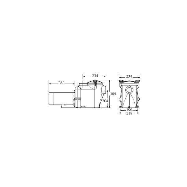 Pompe Filtration piscine Hayward Powerline EZ FLO 2 cv Mono