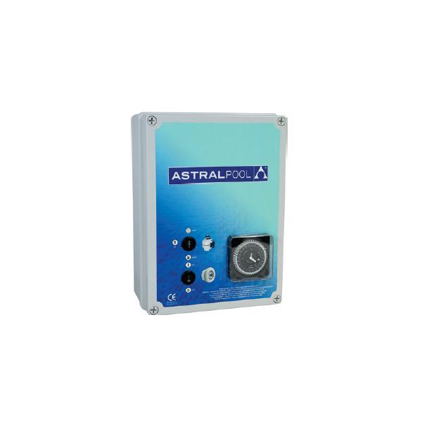 Coffret électrique pour filtration + 2 projecteurs 600 W 4 à 6 A