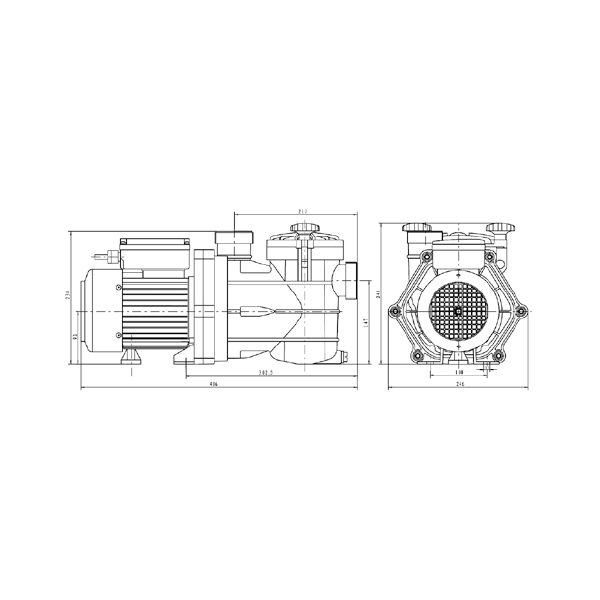 Pompe Filtration ViPool MNB 0,33 cv Mono