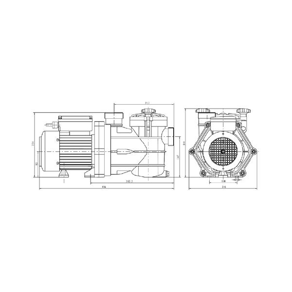 Pompe Filtration ViPool MNB 0,75 cv Mono