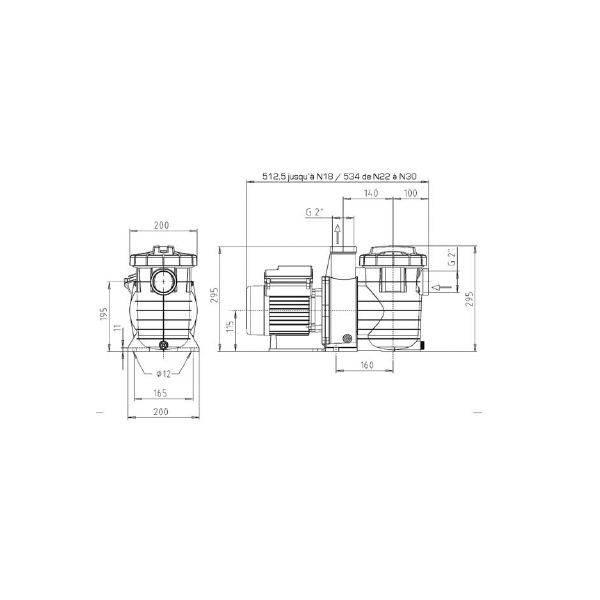 Pompe Filtration piscine KSB Filtra N 8 m3/h Tri