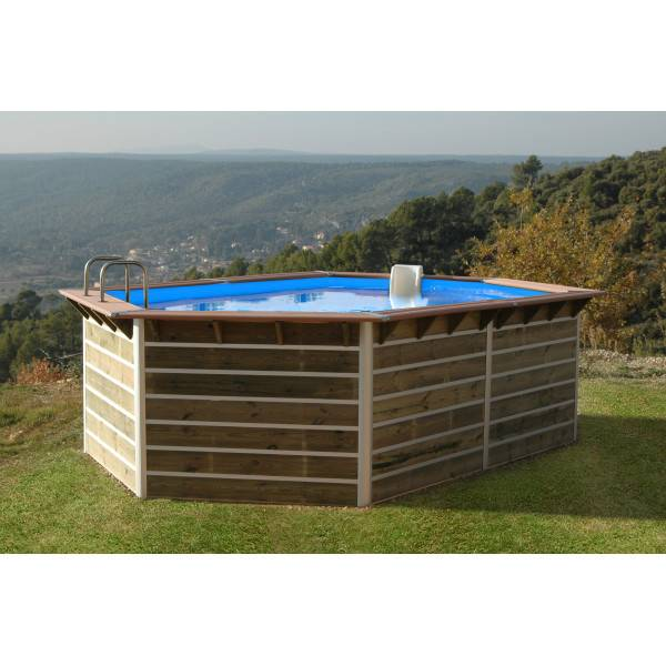 Piscine Bois Water'Clip ARHUS 510 x 320 h 129