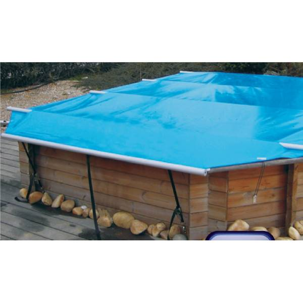 B che d 39 hivernage barres piscine hors sol wood securit - Bache sol piscine ...