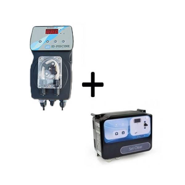 PACK Electrolyseur Sel Clear Astral 95m3 + Régulation Micro pH ID-REGUL