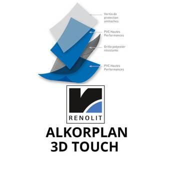 PVC armé ALKORPLAN 3000 3D TOUCH rouleau de 34,65 m2  - Largeur 1,65m