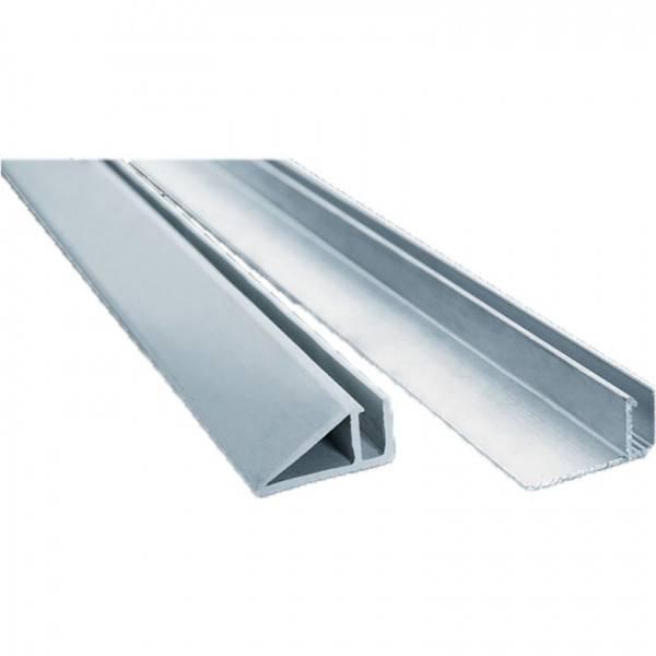 Rail Hung vertical aluminium - barre de 2 mètres (rénovation)