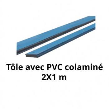 Tôle colaminée 2 m x 1 m pour PVC Armé