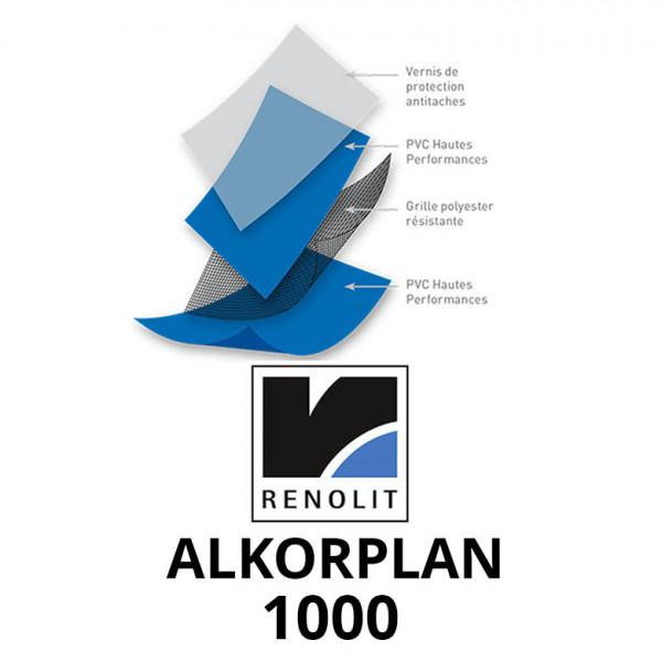PVC armé ALKORPLAN 1000 Standard Uni rouleau de 51,25 m2  - Largeur 2.05m
