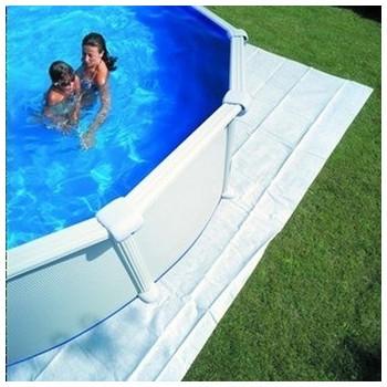Tapis de sol feutrine pour piscine ovale 610 x 375