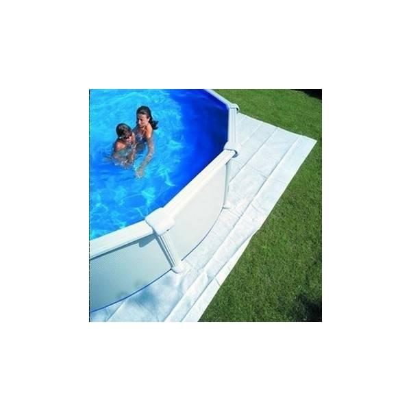 Tapis de sol feutrine pour piscine ovale 730 x 375
