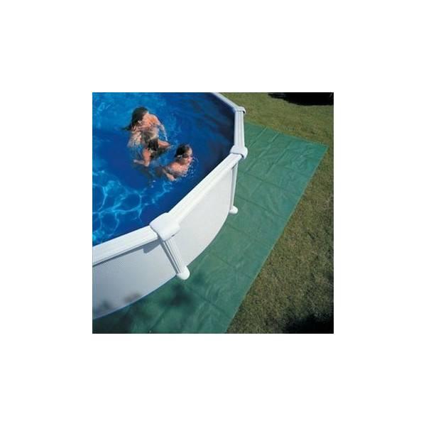Tapis de sol polyéthylène pour piscine diam 450