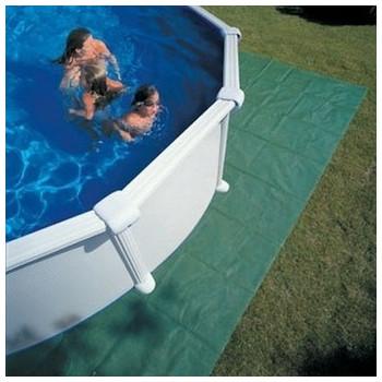 Tapis de sol polyéthylène pour piscine diam 550
