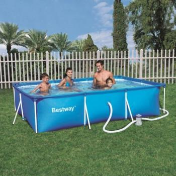 Piscine hors sol tubulaire Deluxe Splash Frame Pools rectangulaire 300 x 201 h 66