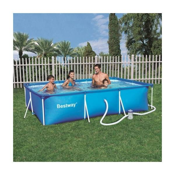 Piscine hors sol tubulaire Deluxe Splash Frame Pools rectangulaire 300 x 201 h 66