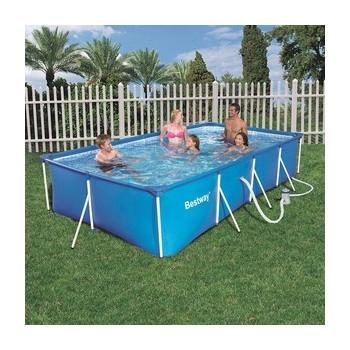 Piscine hors sol tubulaire Family Splash Frame Pools rectangulaire 400 x 211 h 81
