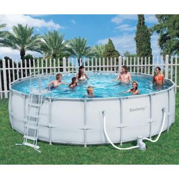 Kit piscine hors sol Steel Pro Frame Pools Ronde diam 488 h 122