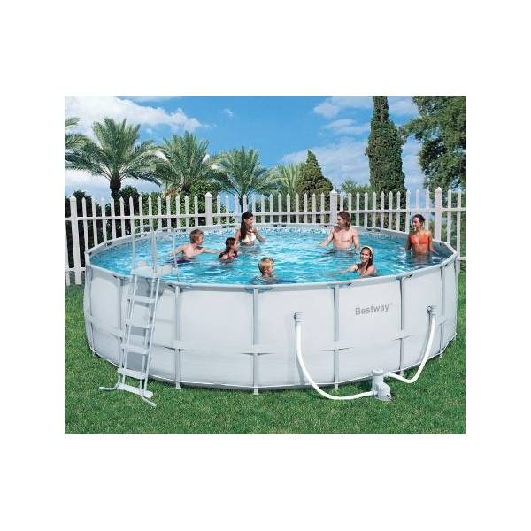 Kit piscine hors sol steel pro frame pools ronde diam 549 for Piscine hors sol tubulaire ronde