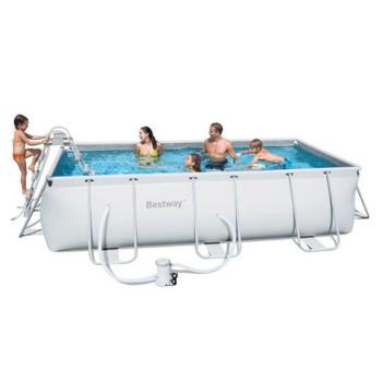 Kit piscine hors sol Steel Pro Frame Pools Rectangulaire 412 x 201 h 122