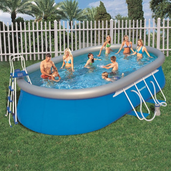 Kit piscine gonflable Fast Set Pools Ovale 549 x 366 h 122