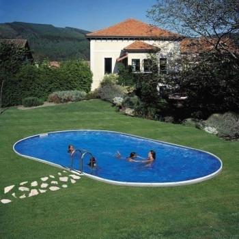Kit Piscine acier enterrée Star Pool MADAGASCAR  Ovale  610 x 375 h 150
