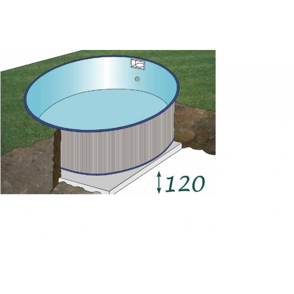 Kit Piscine acier enterrée Star Pool Ronde diam 550 h 120