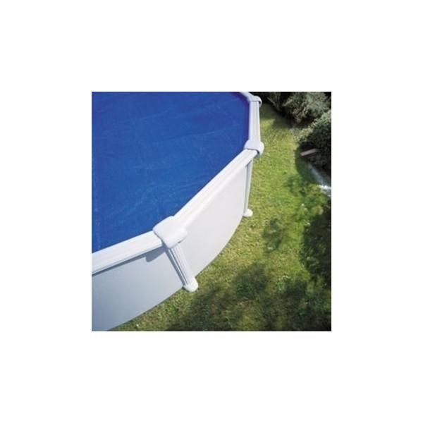 Bâche à bulle piscine Linxor ronde diamètre 5,49 mètres