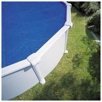Bâche à bulle piscine Linxor ronde diamètre 4,57 mètres